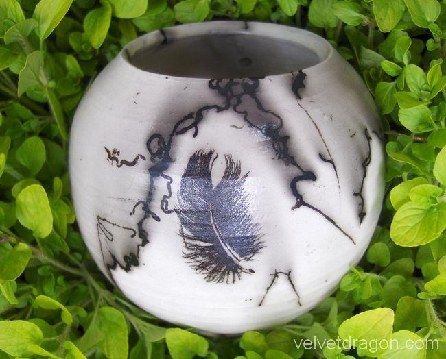 http://velvetdragon.com/gallery/ceramics/summer2009-featherandhorsehair.jpg