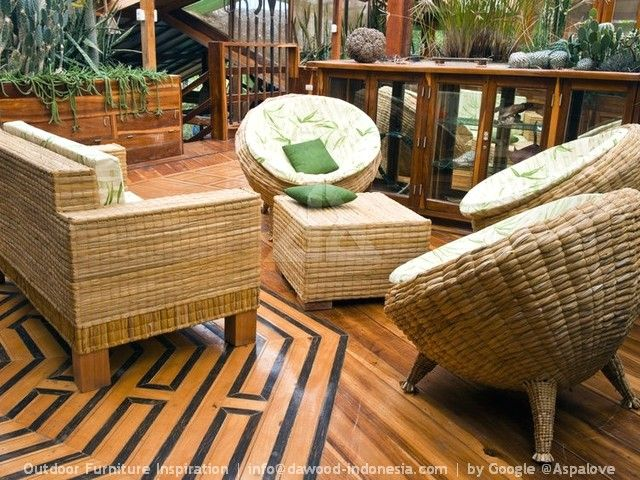 Modern Outdoor Patio Furniture Bamboo