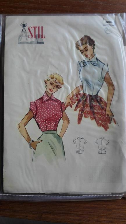 Vintage Stil mönster 4806 st 38, blus, 50-tal på Tradera.com - Symönster