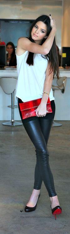 #leather #leggings bLACK HEELS FOR SPRING