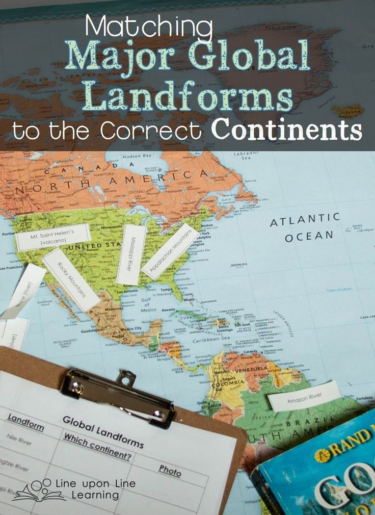 Matching Global Landforms to Continents 269 best