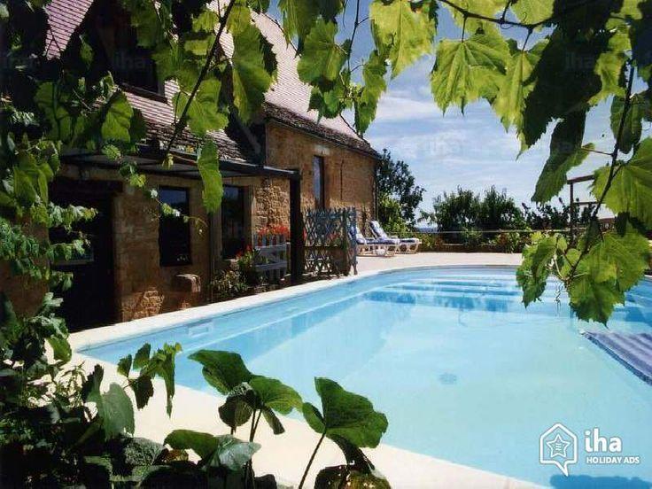 Te huur Beynac et Cazenac Frankrijk Natuurstenen Huis, ontdekken 'Charmant Huis uit Natuursteen' Vakantiewoningen 5 Personen N°53544 IHA : zwembad