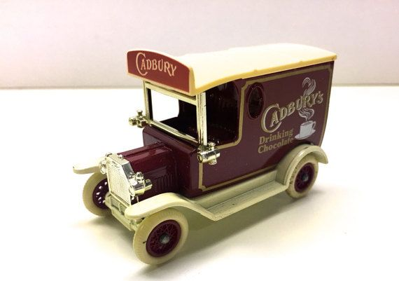 Lledo Promotional Cadburys Drinking Chocolate delivery van.  This model van and box are in great condition, there is a tiny tear in the cellophane box window.  Made in Enfield, England.  Measures: Van 3 Long, box 5 Long  Not suitable for children under 3  Lovely Collectible promotional toy car.  $14 for sale 2/17