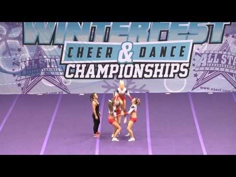 (:35)  Gymstars Brookvale Level 4 Group Stunt - Allstar Winterfest 2014 - YouTube