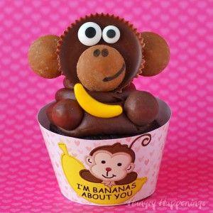 -reeses-cup-monkeys-Valentines-Cupcakes