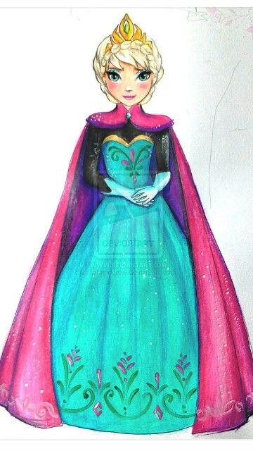 Elsa on a topmodel template ! I ♥ it !
