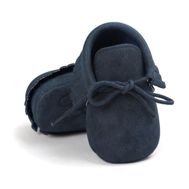 Suede Lace-up Baby Moccasins