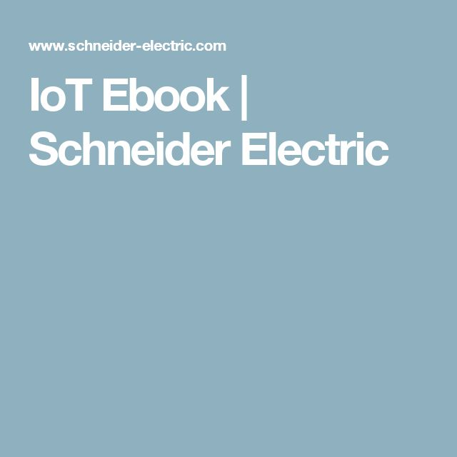 IoT Ebook | Schneider Electric