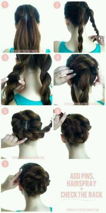 Try this Twisted Pretzel Bun for a perfect Easter hairstyle! Click the pic for detailed directions!   (found on TheBeautyDepartment[dot]com)  For more real-time beauty tips, follow us on http://facebook.com/poshsalondurham or http://instagram.com/poshthesalon!