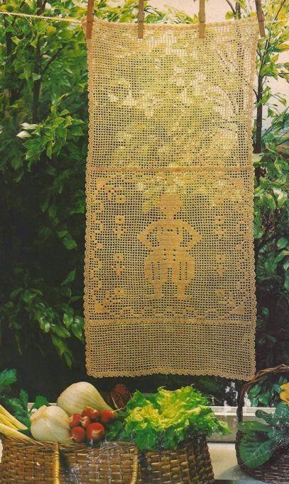 """Patrón #36: Panel Decorativo """"El Señorito"""" a Crochet #crochet  http://blgs.co/Xgm024"""