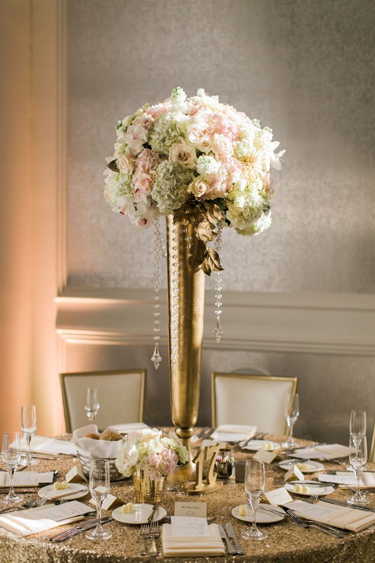 Best gold vase centerpieces ideas on pinterest