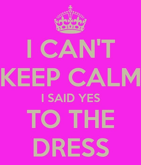 to announce dress picked