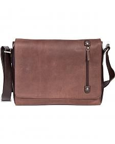 Scully Leather Laptop Messenger Briefcase