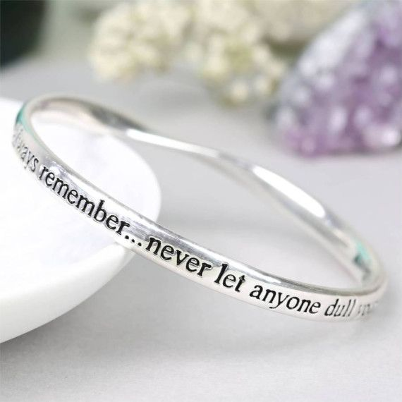 Always Remember Meaningful Word Bangle