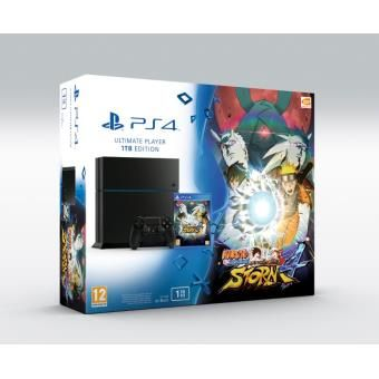 Console Sony PS4 1 To Jet Black + Naruto Shippuden Ultimate Ninja Storm 4