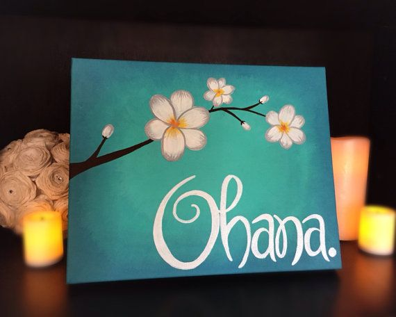 Ohana Means Family 8x10 Acrylic Painting on by ManderlyDesigns