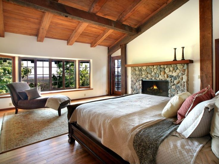 Bedroom Decorating Ideas With Stone : Best images about fireplace on pinterest master