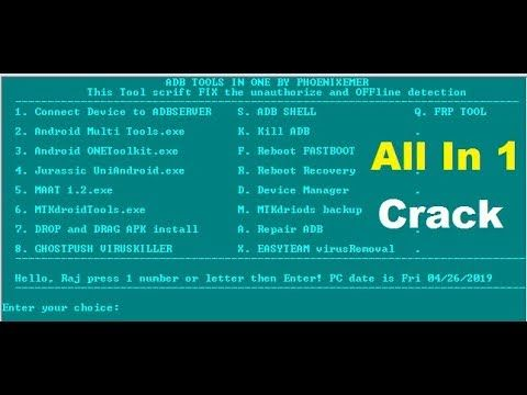 ADB TOOL Pack v1 3B Full Working Multi Tools Crack Setup
