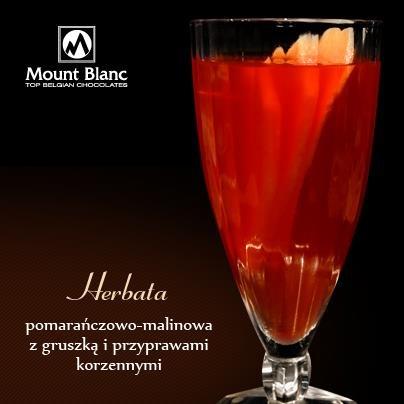 Herbata pomarańczowo - malinowa z gruszką i przyprawami korzennymi