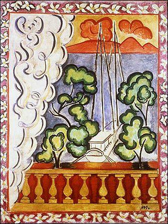 Henri Matisse.  Fenêtre à Tahiti, 1935-1936.                                                                                                                                                                                 Plus