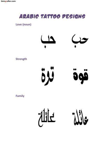 b3e021b89 Famous Arabic Letter Tattoo Stencil | Things to remember | Arabic ...