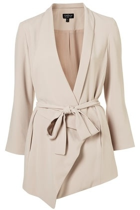 Taupe Asymmetric Jacket - New In This Week - New In - Topshop USA - StyleSays