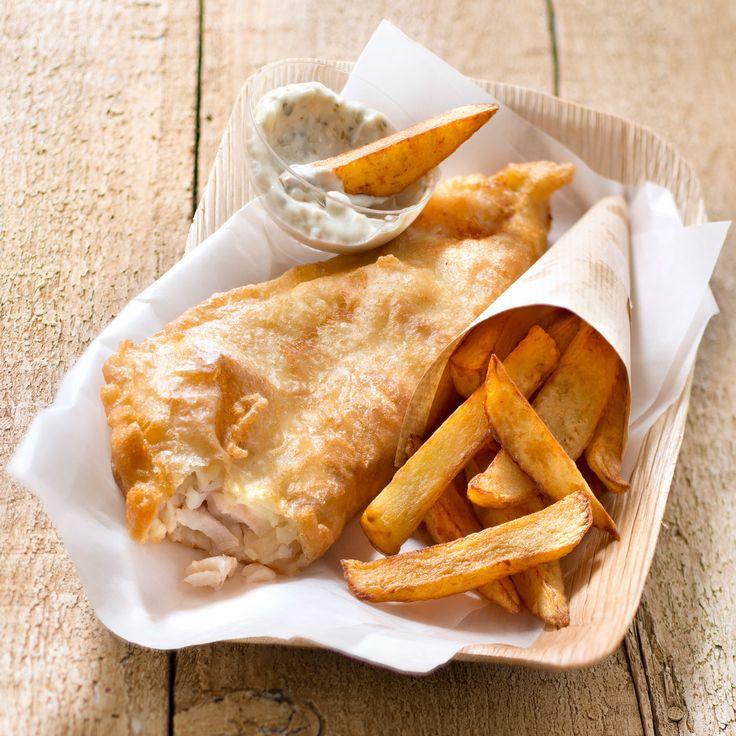 Découvrez la recette Fish and chips sur cuisineactuelle.fr./Cliquez sur la photo pour la recette