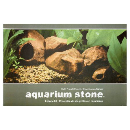 Marina Aquarium Ornament Stone Kit, 6 count
