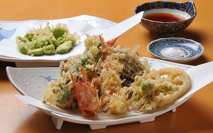 天ぷら・海老と野菜・そら豆