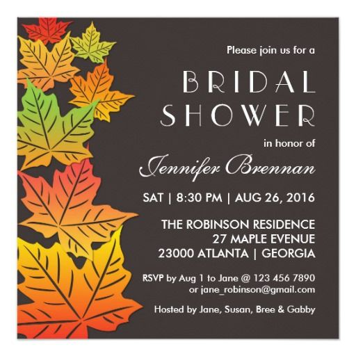 The 161 best thanksgiving wedding invitations images on pinterest autumn falling maple leaf wedding invitation grey stopboris Images
