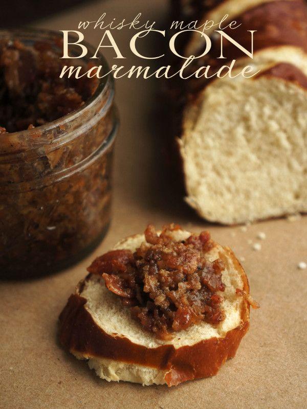Whiskey Maple Bacon Marmalade Recipe >> FollowtheRuels.com
