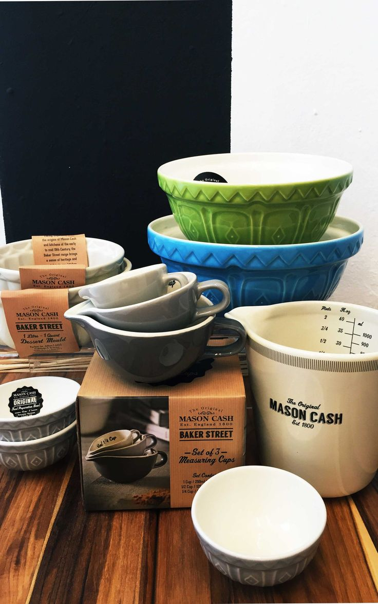 Mason Cash Baker Street is here to stay! These beautiful collection from the iconic British Baking company would look perfect in any kitchen decor! The dessert molds, mixing bowls, pinch bowls and measuring jugs and cups are making us feel all Downton Abbey! We might just bake a pound cake for the whole family to enjoy!