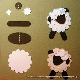 Punch Art sheep. Make into an ornament to go with the Shepherd Bible Story.: