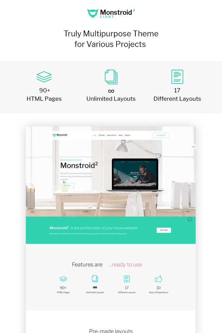 Website Template , Monstroid2 Light - Multipurpose
