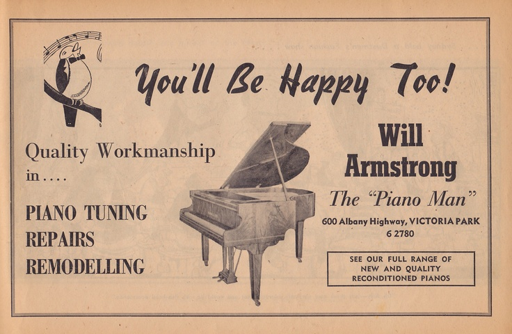 Will Armstrong your piano specialist.