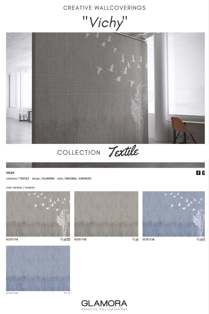 Vichy // Vintage Wallcovering | Textile Collections by Glamora