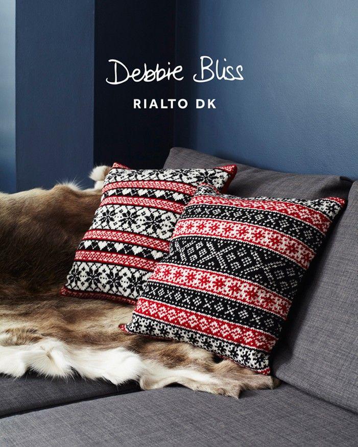 Scandanavian Cushions in Debbie Bliss Rialto DK (DB031)