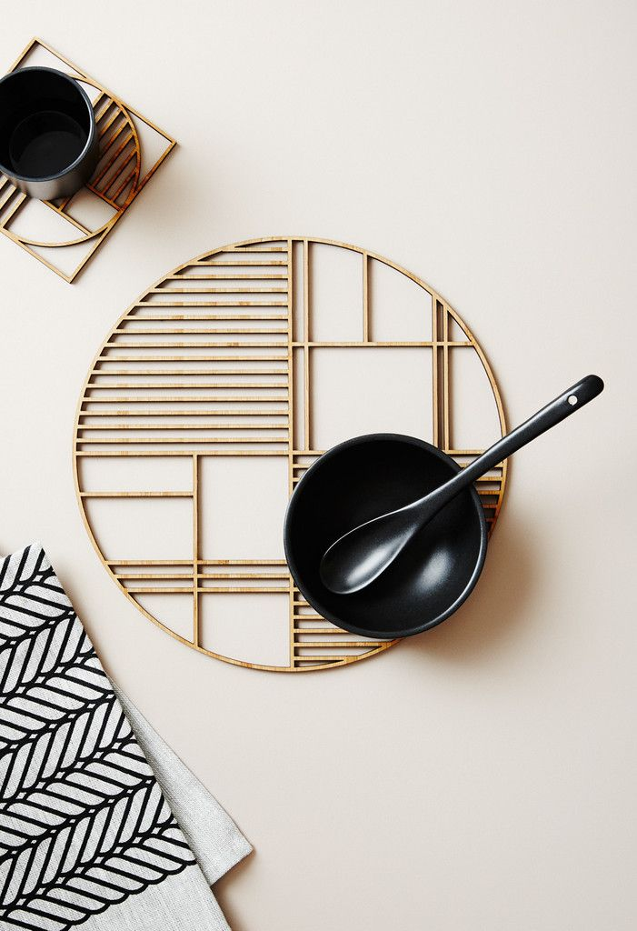 Deco – Large Luxury Bamboo Trivetv - this site also has some cool textiles