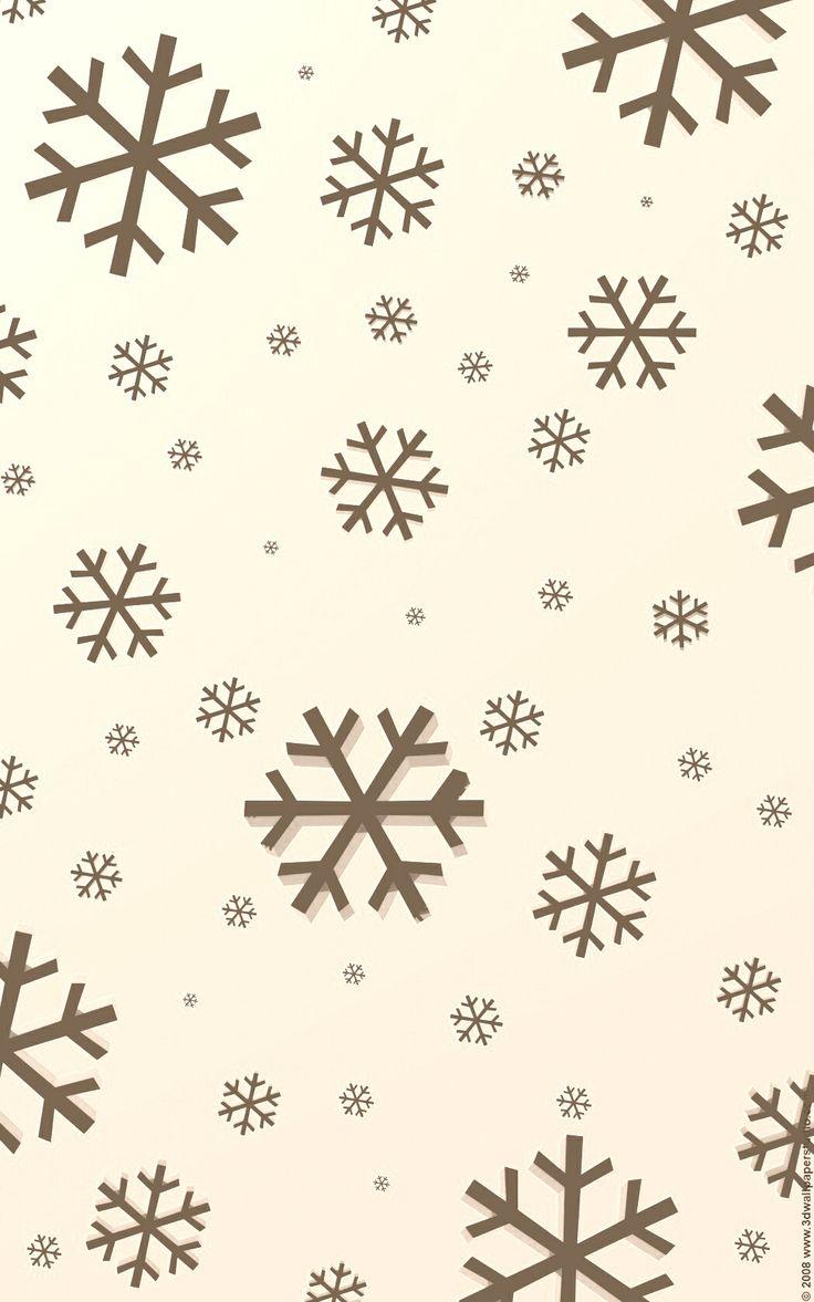 Sepia snowflake iphone wallpaper