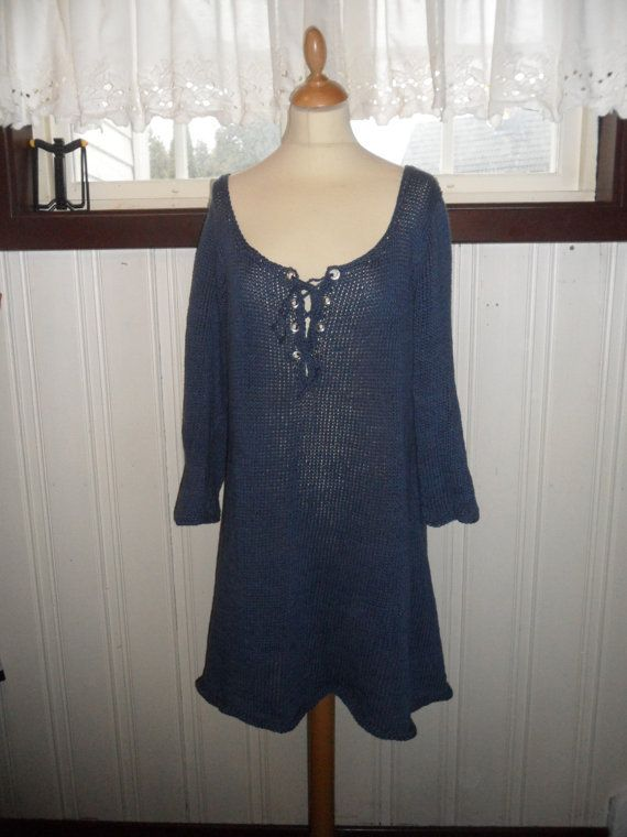 Dress and sweater with eyelets by SiSiVeDesign on Etsy