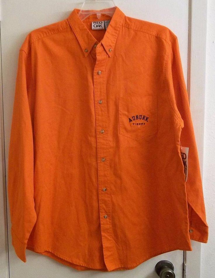 Auburn University Long Sleeve Orange Auburn Tigers Shirt L Large New with Tags #AuburnTigers