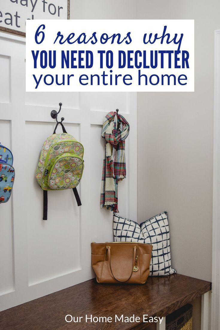 Decluttering your home will make your life easier! Click here to read all 6 reasons and join the free Declutter Challenge! #decluttermyhouse