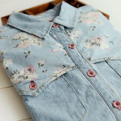 T8 новый 2014 корея стиль весна и осень женщины пальто женщин блузки женский длинным рукавом лоскутное джинсовые рубашки S M L, принадлежащий категории Блузки и рубашки и относящийся к Одежда и аксессуары на сайте AliExpress.com | Alibaba Group