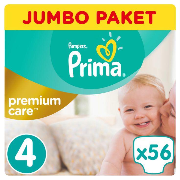 Prima Premium Care Bebek Bezi 4 Beden Jumbo Paket 56 Adet