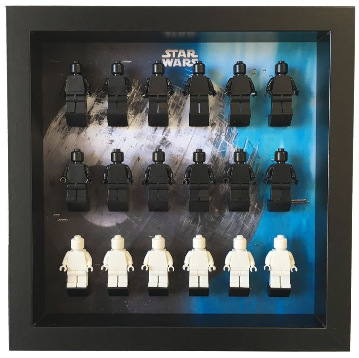 Lego Star Wars Minifigures Frame    The ultimate solution to your #Lego #minifigures Star Wars. Show them in an organized way and keep them safe and dust free. Select a custom layout and color for your Lego minifigures set. #LegoMinifigures #StarWars #LegoStarWars #minifigs #LegoMinifigs