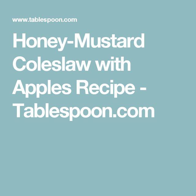 Honey-Mustard Coleslaw with Apples Recipe - Tablespoon.com