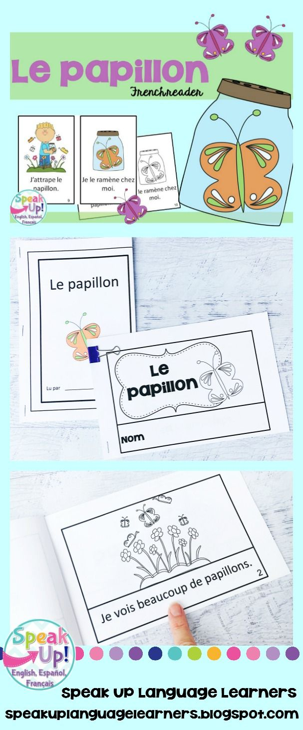 Le papillon French Butterfly Reader Book en fran§ais