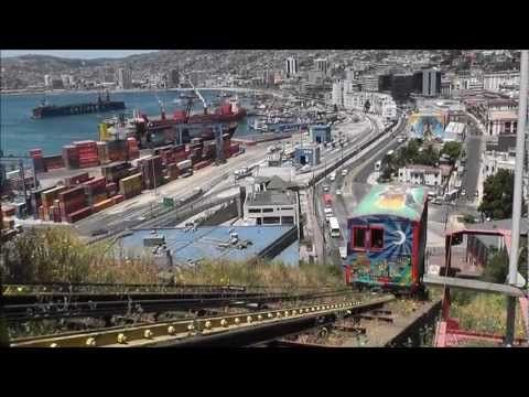 Valparaiso, Chile: Ascensor Artilleria (HD)