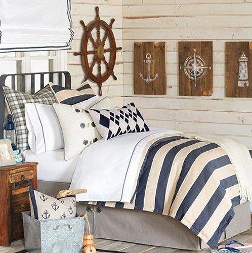 Bosun's Stripe Nautical Bedding Collection