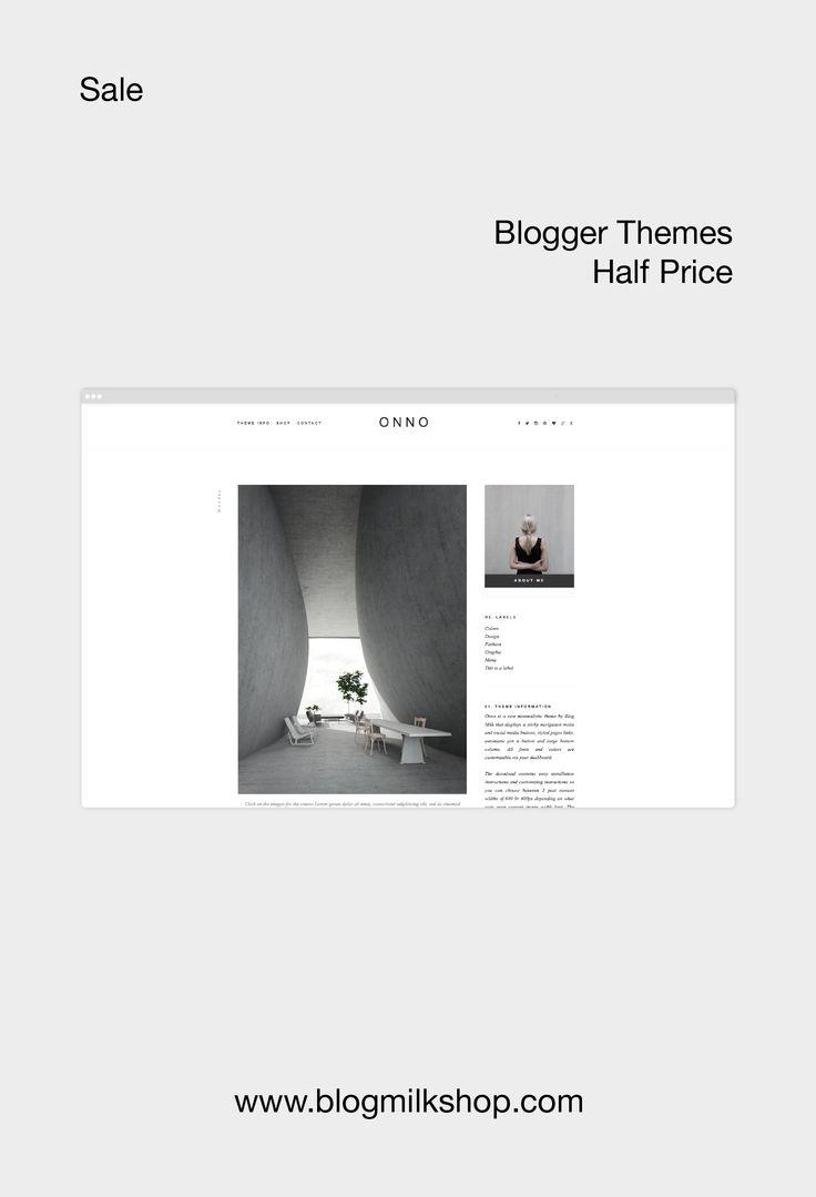 #minimal Blogger themes 50% off via Blog Milk. #sale #blogger #themes